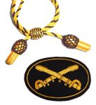 GOLD & BLACK HAT CORD & BADGE SETS